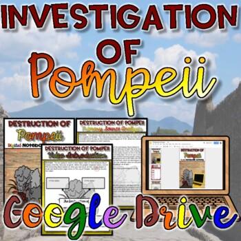 Destruction of Pompeii Digital Activity {Google Drive}