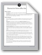 Destructive Forces Affect Landforms