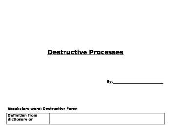 Destructive processes worksheet
