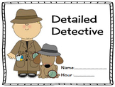 Detail Detective - Focusing on Descriptive Writing in Waky Ways