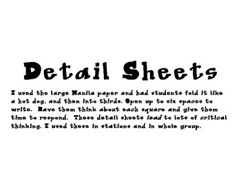 Detail Sheets Bundle