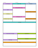 Detailed Activity Lesson Planning Template  - Free