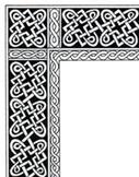 Celtic Knot Stationery Border