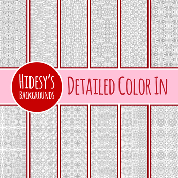 Detailed Color In Backgrounds / Digital Paper / Patterns Clip Art Commercial Use