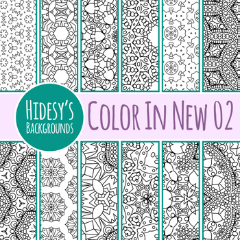 Detailed Color In Backgrounds / Digital Papers N02 Clip Art Set Commercial Use