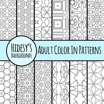 Detailed Color In Patterns - Geometric Commercial Use Clip Art
