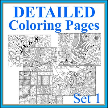 Detailed Coloring Pages Worksheets Teaching Resources Tpt