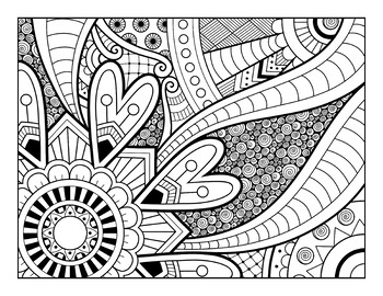 Detailed Coloring Sheets Set 2 20 Patterned Coloring Pages By Debbie Madson