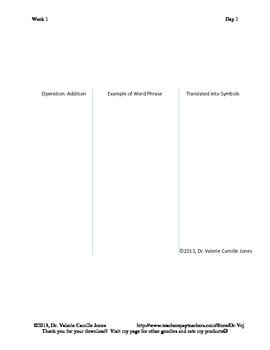 Detailed Lesson Plan Bundle: Do You Speak Math? - Back to School (Common Core)