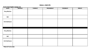 Detailed ELA Lesson Plan Template