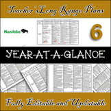 EDITABLE Grade 6 Long Range Plans / Curriculum Bundle /  30-Pages!