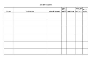 Detailed Homework Log