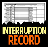Detailed Interruption Log - Classroom Management