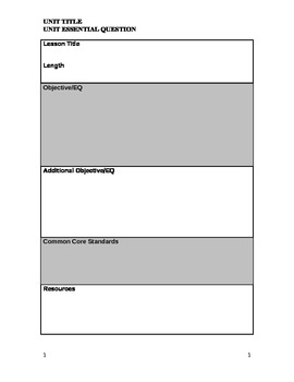Detailed Lesson Plan Template