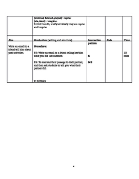Detailed Lesson Plan to help you teach The Simple Past affirmative