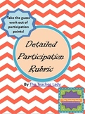 Detailed Participation Rubric