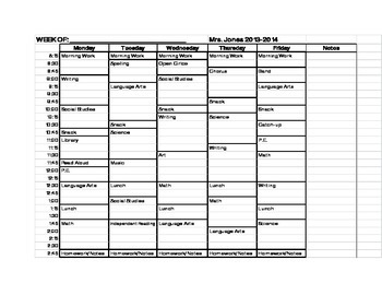 Detailed Personalized Lesson Planning Sheet Printed and Bound