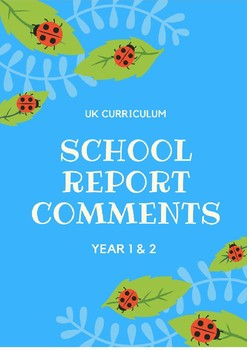 Detailed Report Comments Year 1/2 Grade 1/2