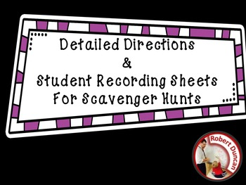 Detailed Scavenger Hunt Directions and Student Answer Reco