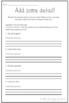 Detailed Sentences Exercise