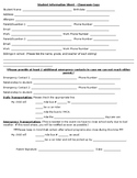 Detailed Student Information Sheet