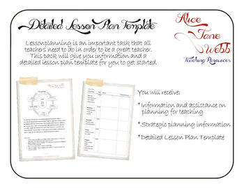 Detailed Teacher Lesson Plan Template and Guide