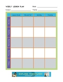 Detailed Weekly Lesson Planner