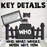 Key Details Who, What, Where, When, Why, How Cat Theme