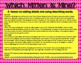 """Details & Describing Words Lesson: """"Which Mitten Is Mine?"""" Guessing Game"""