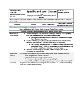 Details - Specificity - STAAR Writing
