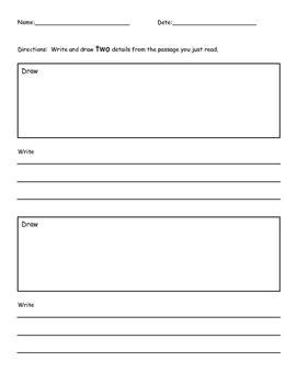 Details from passage worksheet