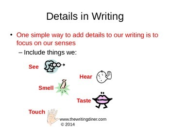 Details in Writing Package from The Writing Diner