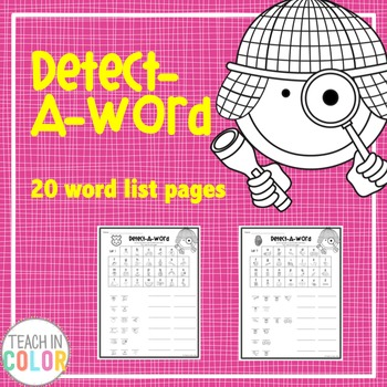 Detect-A-Word Sight Word Activity
