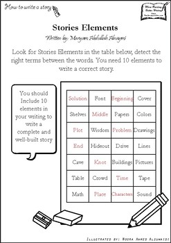 Detect Story elements - 10 terms to find and define