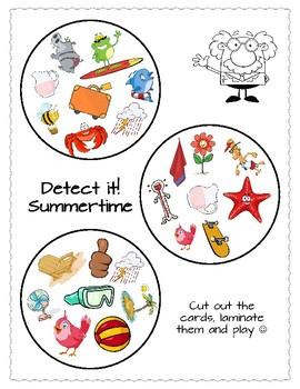 Detect it! (Spot it/Dobble Cards)
