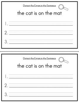 Detect the Error! Sentence Practice