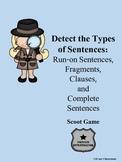 Run-Ons, Fragments, & Clauses Scoot Game
