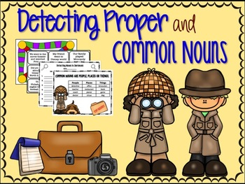 Detecting Proper and Common Nouns Game and Activity Packet