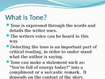 Detecting the Author's Tone