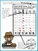 Detective Addition Spin and Solve Math Centers