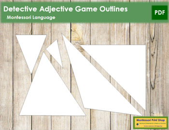 Detective Adjective Game - Outlines