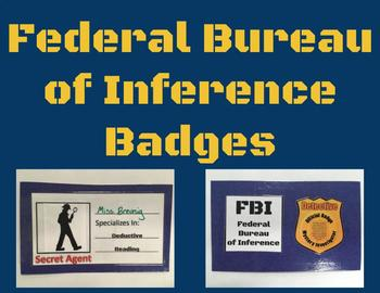 Detective Badges for Mystery Reading Unit (Editable)