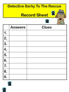Detective Barky to the Rescue!: Figurative Language