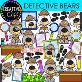 Detective Bear Clipart {Detective Clipart}