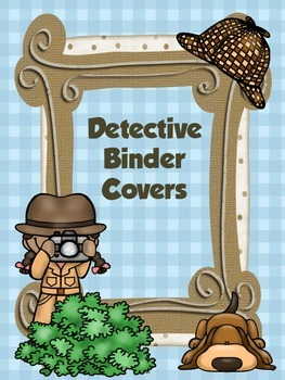 Detective Binder Covers-Editable