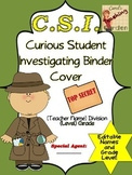 Detective CSI Binder Cover (with Editable Names and Grade Level)