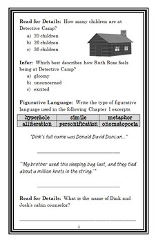 Detective Camp : A to Z Mysteries (Ron Roy) Novel Study / Reading Comprehension