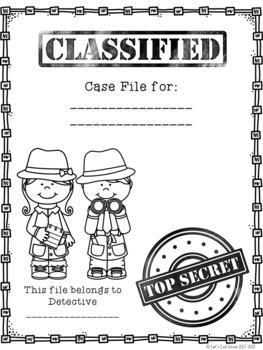 Detective Case File: Mystery Genre Interactive File Folder