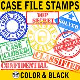 Detective Case File Stamps Clip Art