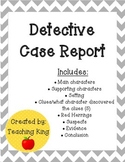 Detective Case Report Module F Mysteries Genre Unit